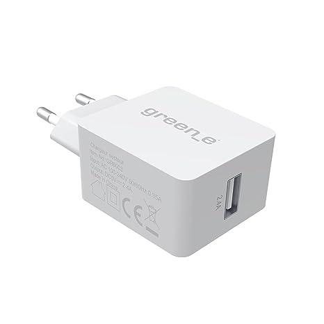 Green E gr6002 Cargador de Pared LED 1 A Blanco: Amazon.es ...