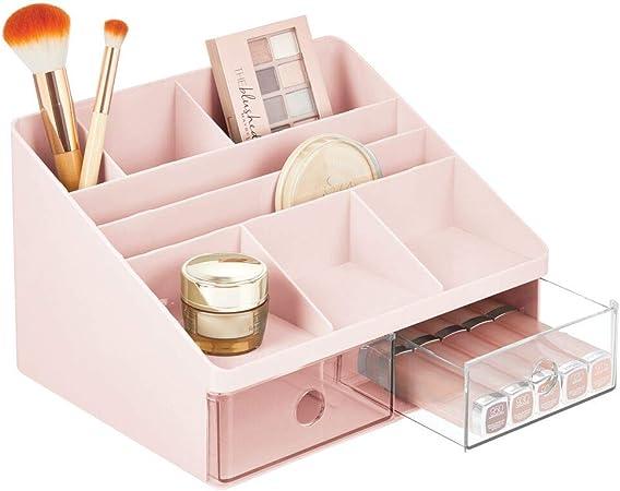 mDesign Organizador de maquillaje – Caja para cosméticos con 2 ...