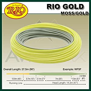 Rio gold 4 weight fly fishing line sports for Amazon fishing line