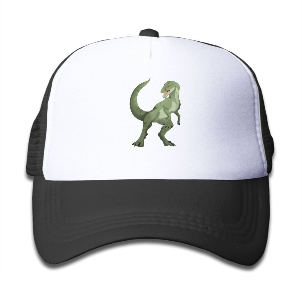 8986f749a8e95 Amazon.com  Mesh Baseball Cap Sun Hat Kids Cap Green Dinosaur Adjustable  Boy Girl  Clothing
