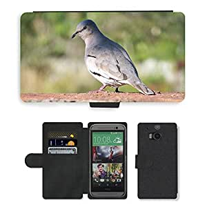 Grand Phone Cases PU LEATHER case coque housse smartphone Flip bag Cover protection // M00140546 Paige Naturaleza Aves Animales Birdie // HTC One M8