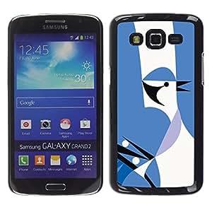 Be Good Phone Accessory // Dura Cáscara cubierta Protectora Caso Carcasa Funda de Protección para Samsung Galaxy Grand 2 SM-G7102 SM-G7105 // Hidden Bird