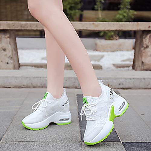 Chaussures Blanc Marche Creepers Été Rond Vert US8 CN39 Rouge Femme Basket Polyuréthane Bout Maille Green TTSHOES UK6 EU39 Confort Printemps 7q85z1Wwx