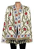 UZBEK TRADITIONAL BUKHARA OUTWEAR COSTUME JACKET SILK EMBROIDERY SUZANI A10251