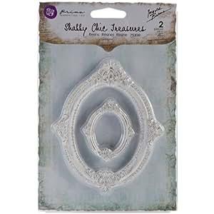 Prima Marketing Shabby Chic Treasures Resin, Victorian Frames, 2-Pack