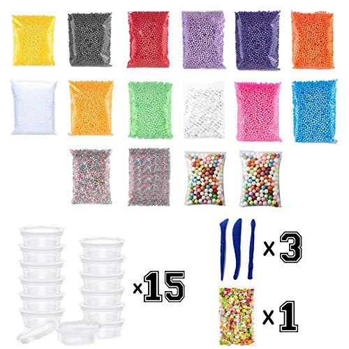 Soft Foam Chunks Beads Filler Slime Tool For Slime Making Art Diy Craft Multicolor For Kids Gift Glass Bottles Diy Floral Toys & Hobbies Learning & Education
