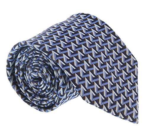 Ermenegildo Zegna Blue-Cream Geometric Tie for mens for sale  Delivered anywhere in USA