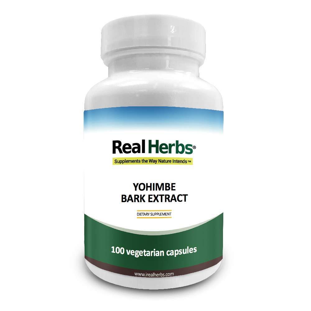 Yohimbe Bark Extract Standardized to 4% Yohimbine HCL (Hydrochloride) - 100 Vegetarian Capsules