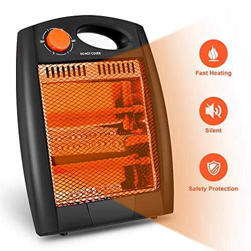 Air Choice Portable Radiant Heater - Quiet Office Heater with covid 19 (Electric Infrared Radiant Heaters coronavirus)