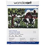 "Wonderart Contented Cows Latch Hook Kit, 27"" X 40"""