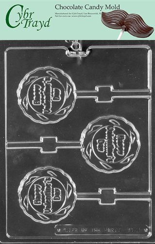 Cybrtrayd V173 Happy Valentine's Day Lolly Valentine Chocolate Candy Mold with Exclusive Copyrighted Instructions
