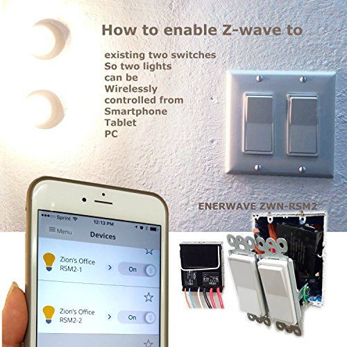 enerwave zwn rsm2 z wave smart dual relay switch module. Black Bedroom Furniture Sets. Home Design Ideas