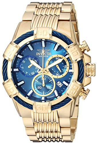 - Invicta Men's Bolt Quartz Watch with Stainless-Steel Strap, Gold, 30 (Model: 25866)