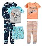 Simple Joys by Carter's Boys' Toddler 6-Piece Snug Fit Cotton Pajama Set, Dragons/Igauana, 2T