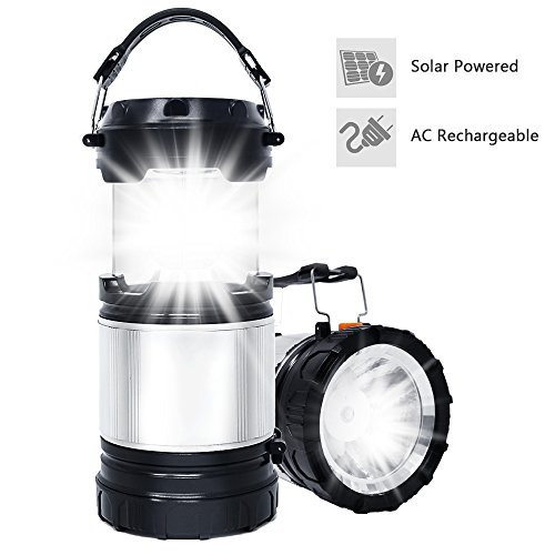 Solar LED Lantern, APPHOME 2-In-1 Camping Lantern Handheld Flashlights, Camping Gear Equipment for Outdoor Hiking, Camping Supplies, Emergencies, Hurricanes, Outages