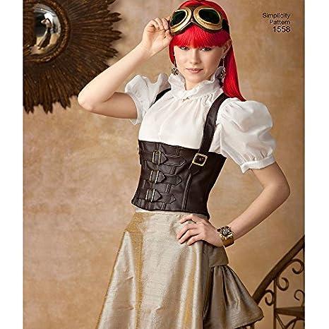 Simplicity us1558hh Größe HH Schnittmuster Steampunk Kostüm