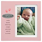 Malden International Designs Juvenile With Verse Metal Plaque Picture Frame, 4x6, Pink