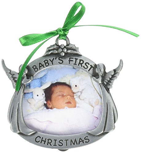 - Cathedral Art CO602 Baby's First Christmas Photo Frame Ornament, 2-Inch