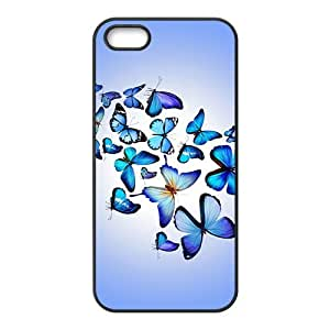 Blue Butterfly Hight Quality Plastic Case for Iphone 5s