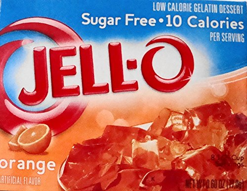Jell-O Orange Sugar-Free Gelatin 0.60 oz (4 (Orange Gelatin)