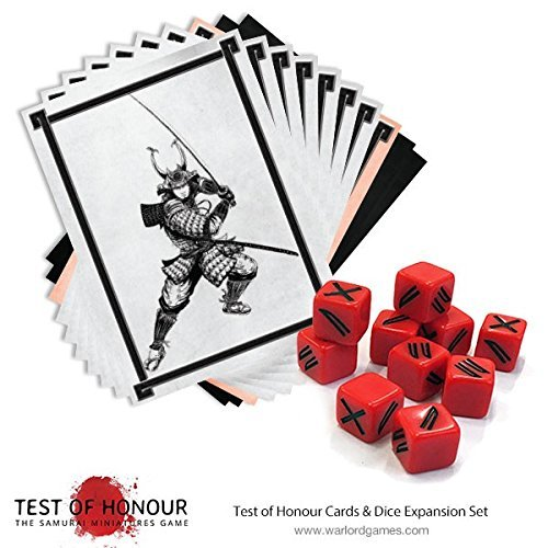 Test of Honour Warlord Games, Dice Set with Gaming Cards
