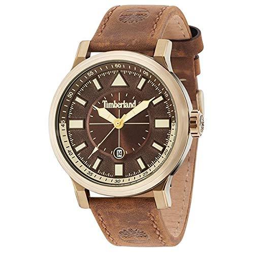 Timberland Reloj Analógico para Hombre de Cuarzo con Correa en Cuero TBL15248JSK.12: Amazon.es: Relojes
