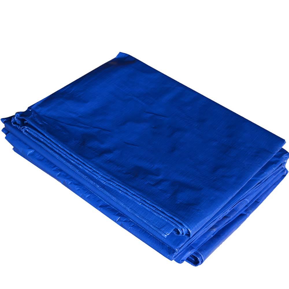 GNAWOX 厚い防水シート、車のサンスクリーンプラスチックシート、簡単な折りたたみ式の青と白の布、(200g /㎡) (サイズ さいず : 10x10m) 10x10m  B07K6NMV6M