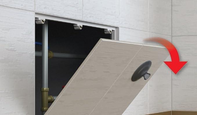 Puerta de inspección y trampilla de inspección enlosable magnética: 300 mm x 300 mm.: Amazon.es: Bricolaje y herramientas
