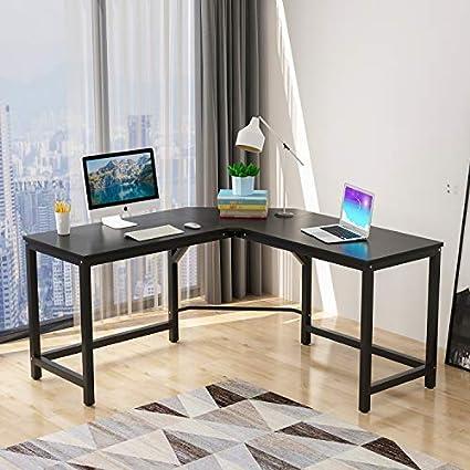 Nice McNeil L Shaped Corner Table 55u0026quot;+55u0026quot; Computer Desk Home Office  Workstation