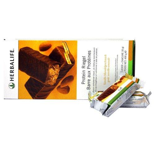 HERBALIFE Protein Riegel, 14 Riegel x 35 g - Vanille-Mandel Geschmack - 490 g