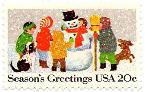 USA Postage Stamp Single 1982 Christmas Snowman Issue 20 Cent Scott #2028