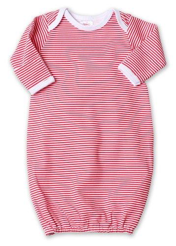 Candy Stripe Gown (Zutano Candy Stripe Gown, Red, Newborn)