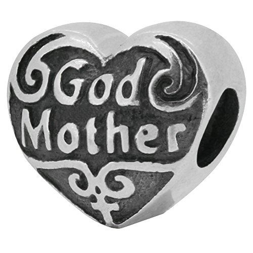Zable Sterling Silver God Mother Pandora Compatible Bead / Charm
