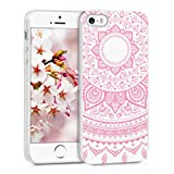 kwmobile Crystal Case Cover for Apple iPhone SE / 5 / 5S TPU silicone IMD design protective case - soft mobile cover Design Indian sun