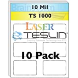 Perforated Laser Teslin Synthetic Paper - 10 Sheets