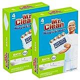 Mr. Clean Magic Eraser Bath Scrubber, 4-Count (Pack of 2)