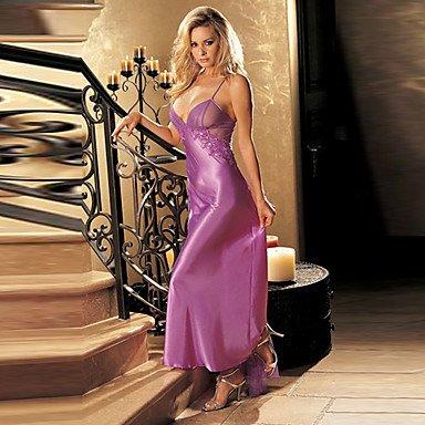 Price comparison product image Mysterious Lady Lila Satin Damen Dessous Sexy Uniform