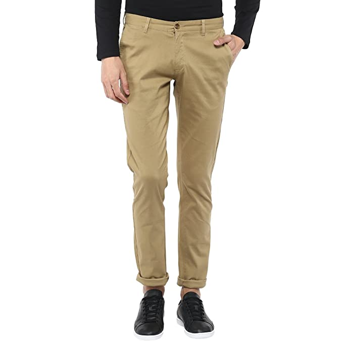 diverse styles lovely design rock-bottom price BLACKBERRY URBAN Mens 5 Pocket Solid Chinos: Amazon.in ...