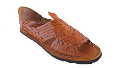 ccbb631ee842 Mexican Sandals-Women s Genuine Leather Quality Handmade Sandals Huarache  (5) Tan