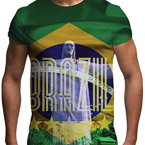 Brazil Olympics Christ The Redeemer Rio De Janeiro Favelas Mens Holiday T Shirt