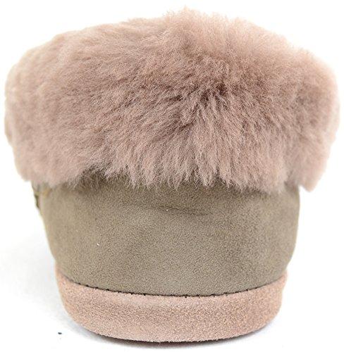 SNUGRUGS Femmes/femme véritable de 100% complète en peau de mouton Pantoufle avec semelle souple Vole kIx8t