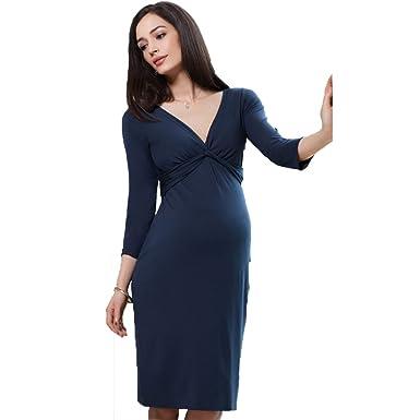 110d4bbfd7390 Happy Walk Spring Maternity Dresses Evening Party Elegant Pregnant ...