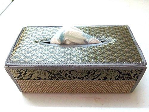 Handmade Tissue Box Cover Thailand stripes Home Decor Napkin Paper Silk & Reed By - Sg Gatsby