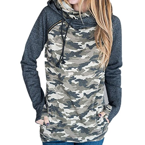 Camouflage Pullover Hooded Sweatshirt - 7