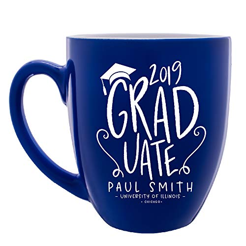 Personalized Mug Graduation Gift for Her Him PhD MBA Bachelors College Customized Gift for Graduation |16 oz Ceramic Custom Coffee Mug 7 Different Color Class of 2018 Grad Gifts For Women and Men