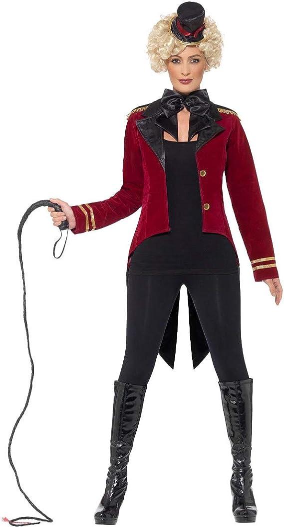 Amakando Encantador Disfraz de domadora para Dama / Rojo Oscuro ...