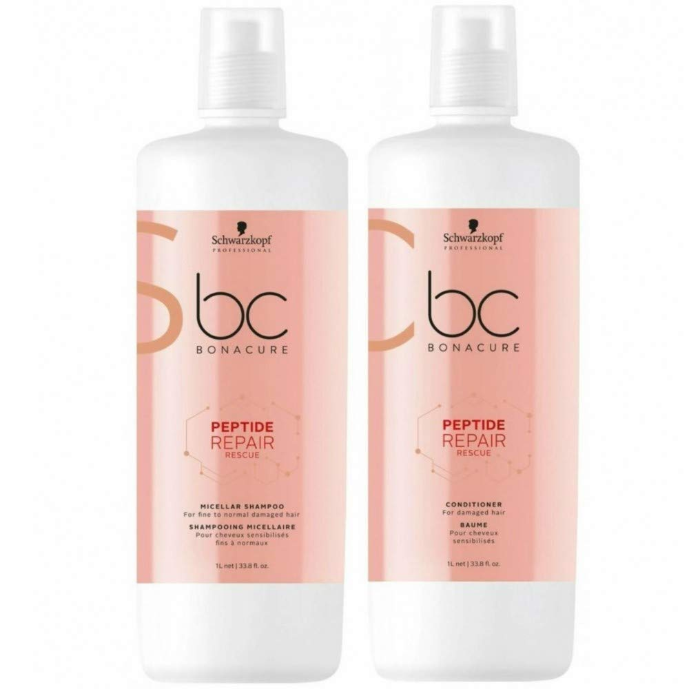 BC Bonacure REPAIR RESCUE Deep Nourishing Shampoo and Conditioner Set, 33.81-Ounce