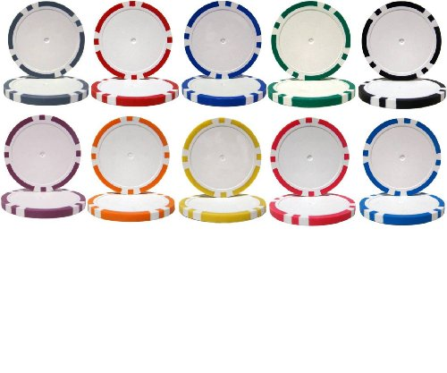 (50 New 8-Stripe 14gm Blank Poker Chips - Choose)