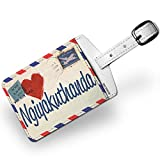 Luggage Tag I Love You Zulu Love Letter from South Africa - NEONBLOND