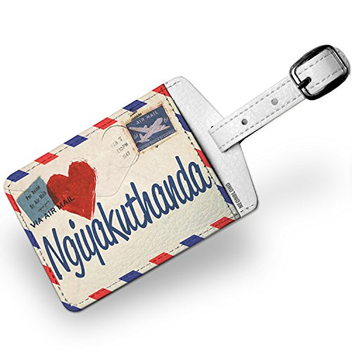 Luggage Tag I Love You Zulu Love Letter from South Africa - NEONBLOND by NEONBLOND